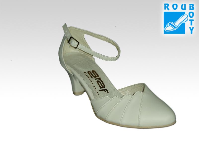 Svatební boty - GRAF 877 Satyna ecru - podměrná 93fed5226b