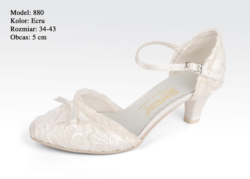 03ca6447791 Svatební obuv GRAF - 880 ECRU-podměrné