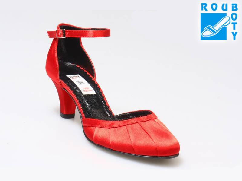 48dbf9f5379 Společenská obuv - GRAF871 Satin Red-podměrná