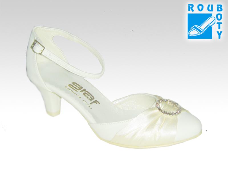 Svatební boty - GRAF 872 Satyna Satin Ecru-podměrná  6d618be0fc