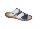 ... Pánské nadměrné pantofle PS 411 D S bílo-modré da884ea4b3