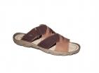 ... Pánské nadměrné pantofle PS 411 D S Hnědo-béžové 48c8ad54df