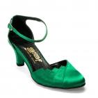 ... Společenské boty - GRAF 877 satén zelený - podměrná 9f6fa10f3c