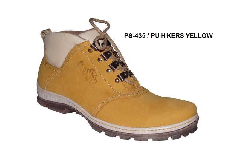 Nadměrné zimní boty PS-435 PU HIKERS YELLOW (47-50) 7766dd3923