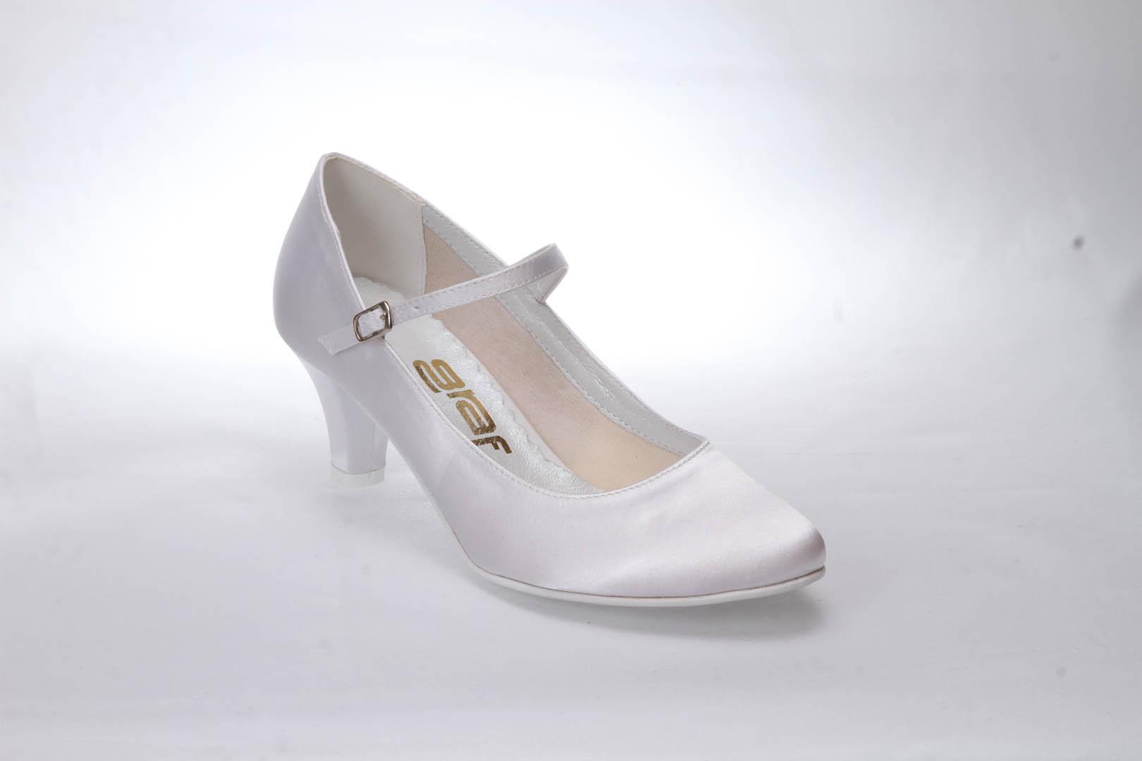 0b5d103d03b Svatební boty GRAF 1503 Satin white - podměrné