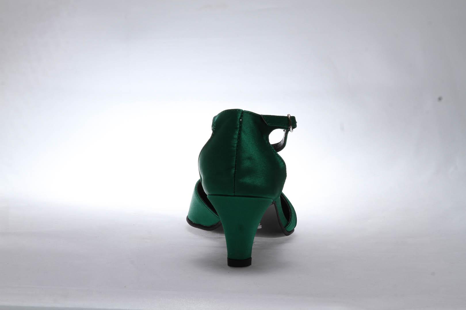 Společenské boty - GRAF 877 satén zelený - podměrná cc414b9882