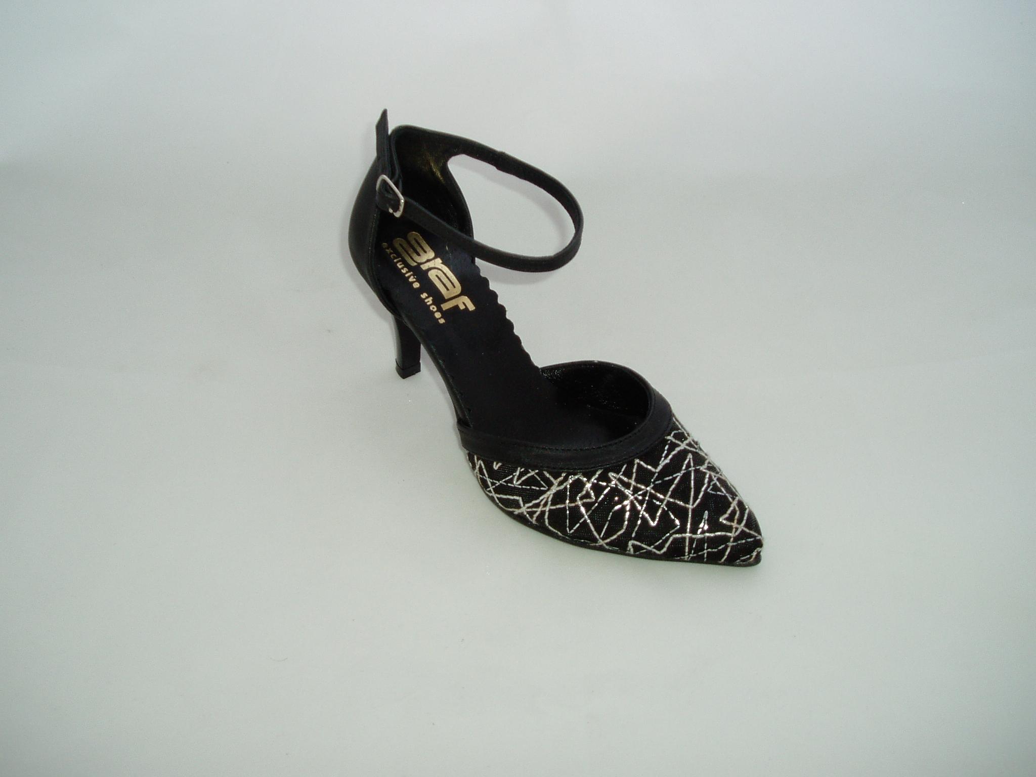 Společenské boty GRAF 961 silbern+ažur black-podměrná a1295ffd86