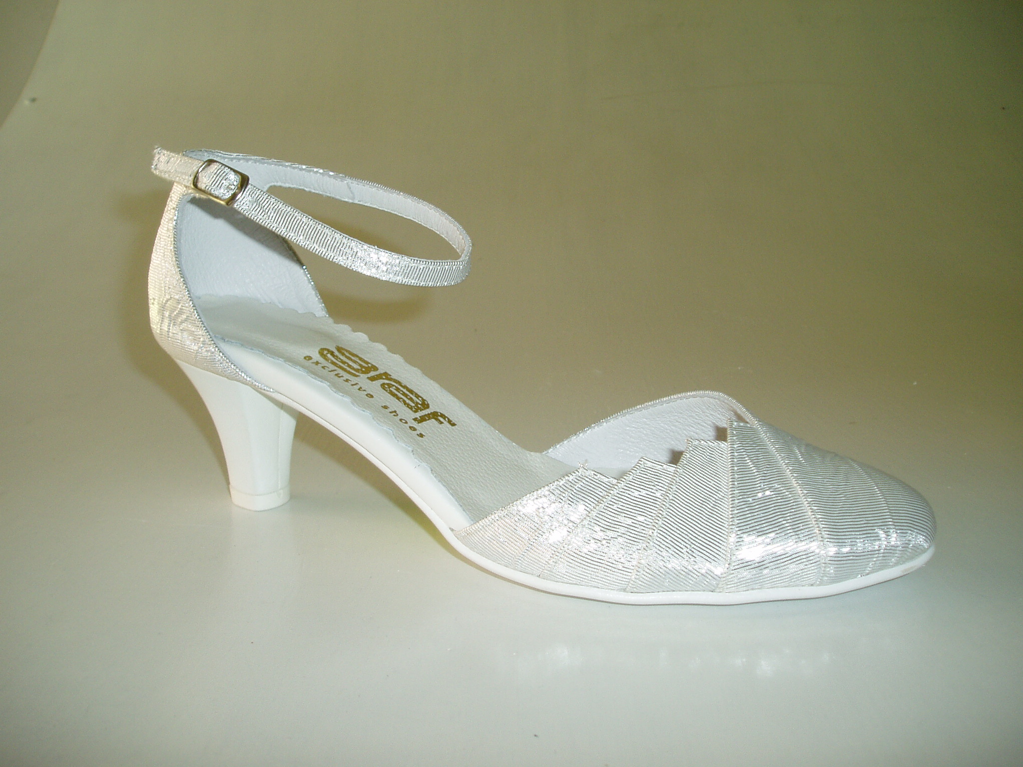 Společenské stříbrné boty - GRAF 877 REY SILBERN-podměrná d41c20d3b5