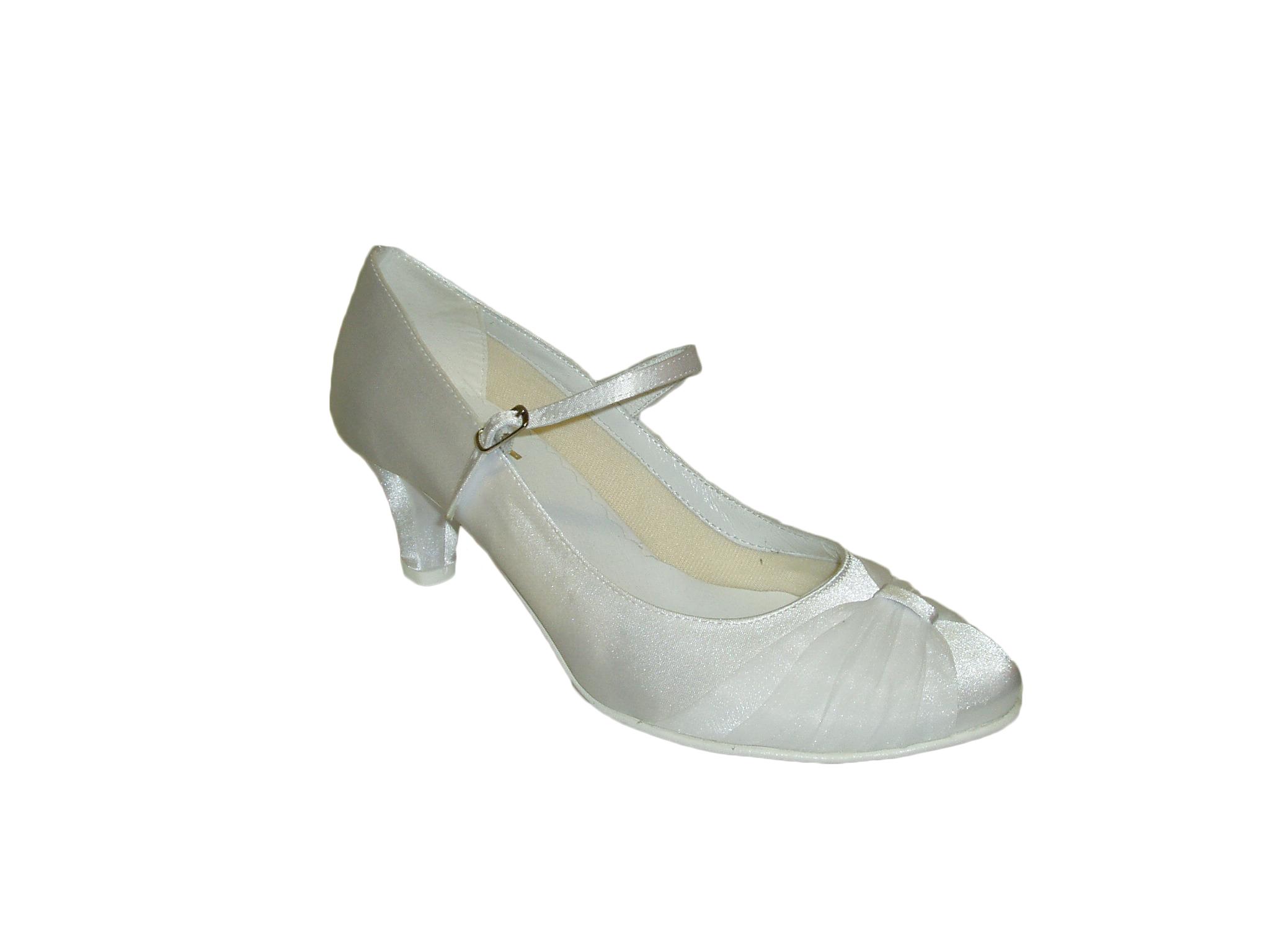 06a3e764b8d Svatební boty GRAF-1345 satin white OZDOBA-podměrná