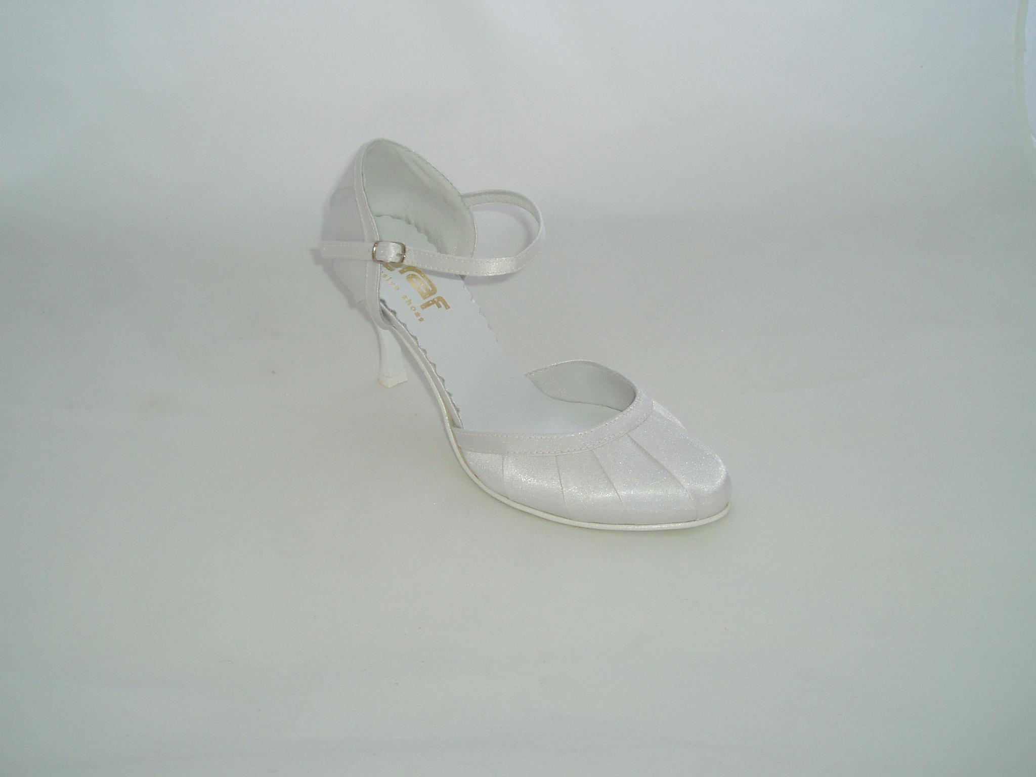 Svatební boty -GRAF 251 Satin white-podměrná 68fcb4c626