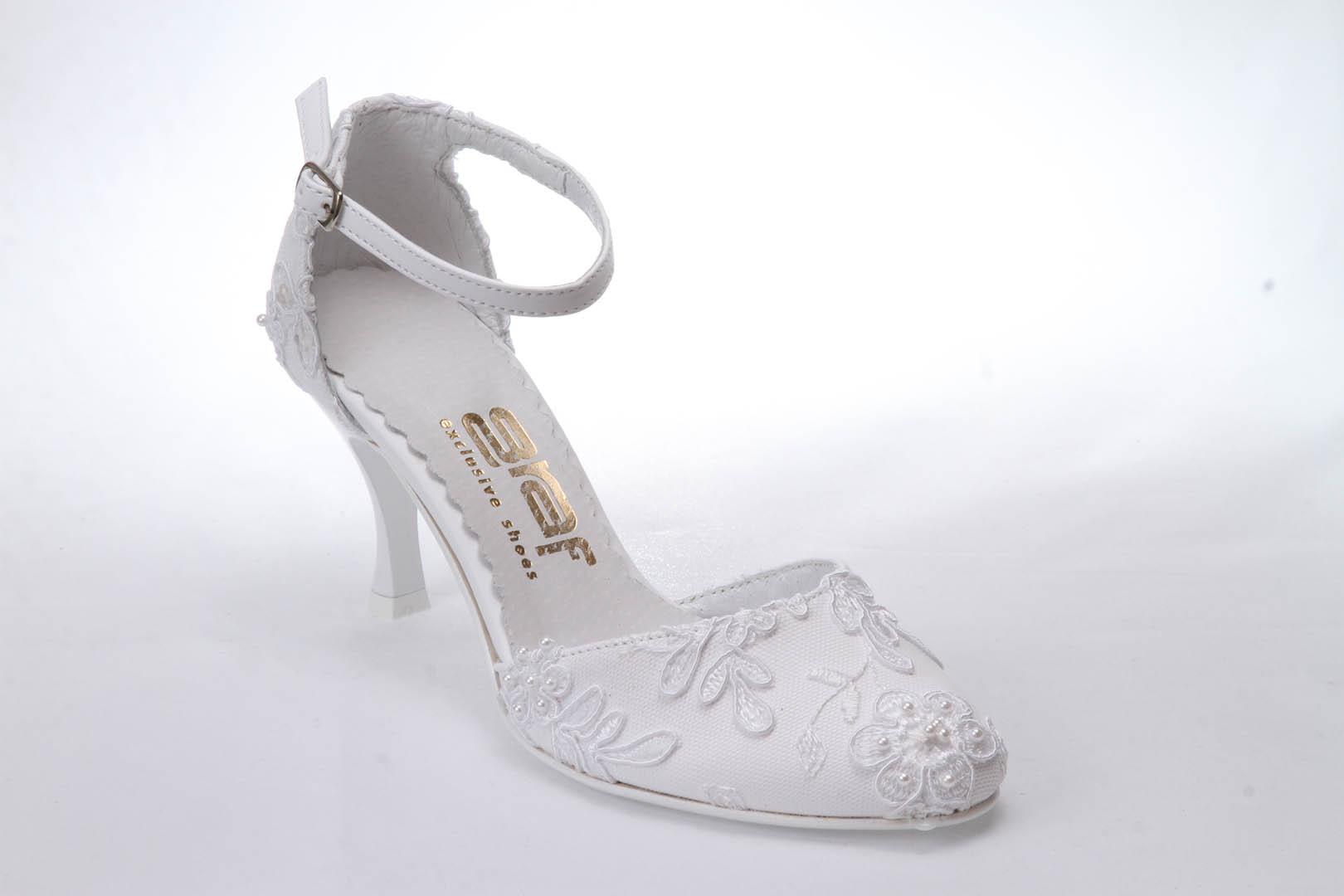 15716da49ef Svatební boty GRAF 254 PRIMA WHITE podměrná