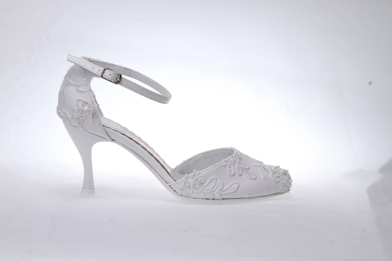35634f8e2c0 Svatební boty GRAF 254 PRIMA WHITE podměrná