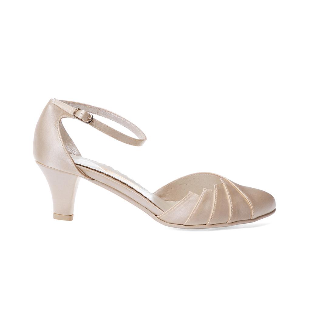 ... Svatební boty - GRAF 877 SATIN -IVORY - podměrná 187ea4932c