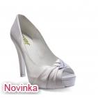 ... Svatební boty - GRAF 074 Satin white-podměrná lodička 12e7d1f602